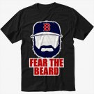 Johnny Gomes Boston Red Sox FEAR THE BEARD Black T-Shirt Screen Printing