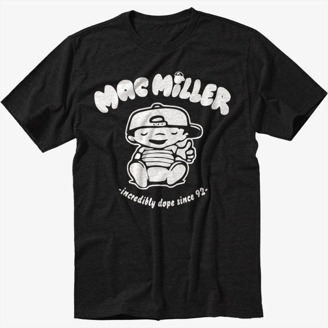Mac Miller Music Fan Black T-Shirt Screen Printing