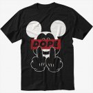 New Dope Mickey Mouse Black T-Shirt Screen Printing