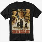 Once Upon A Time In The West Custom Spaghetti Western Black T-Shirt Screen Printing