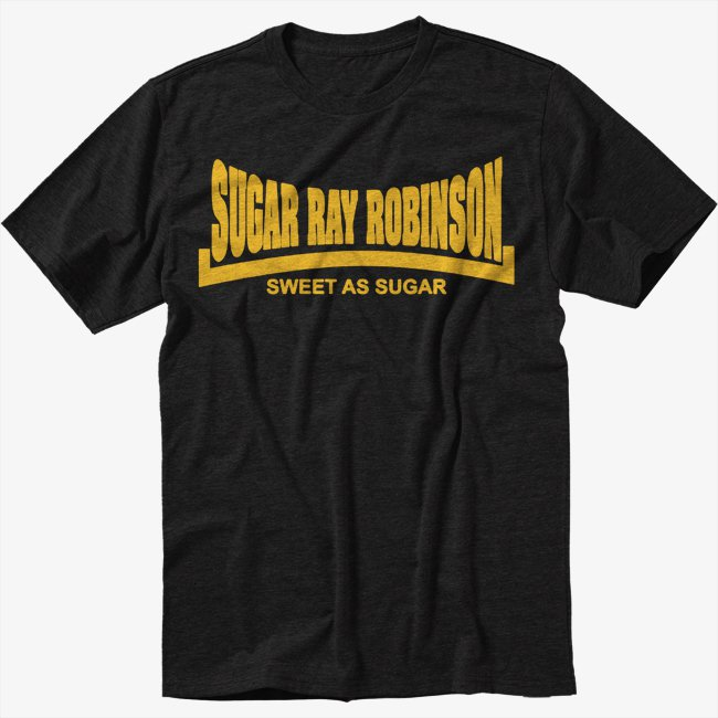 Sugar Ray Robinson Sweet As Sugar Black T-Shirt