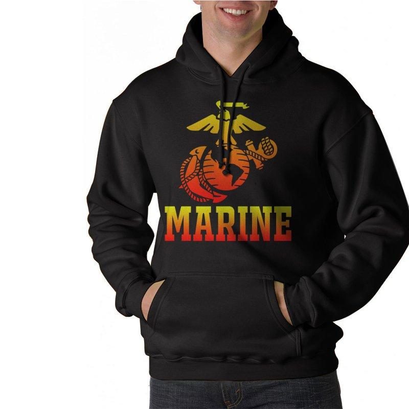 Marine Corps US United States Marines USMC Black Hoodie