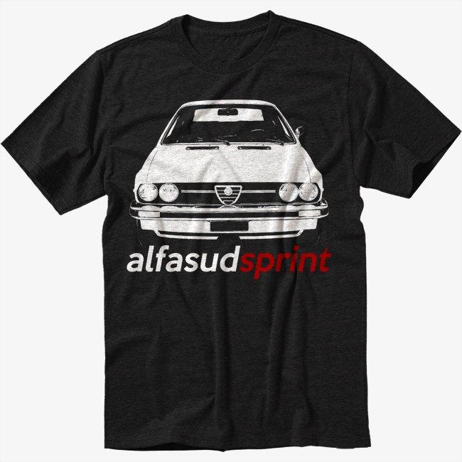 Alfa Romeo alfasud T-Shirt sprint retro Men Black T Shirt