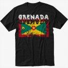 Grenada Flag Men Black T Shirt