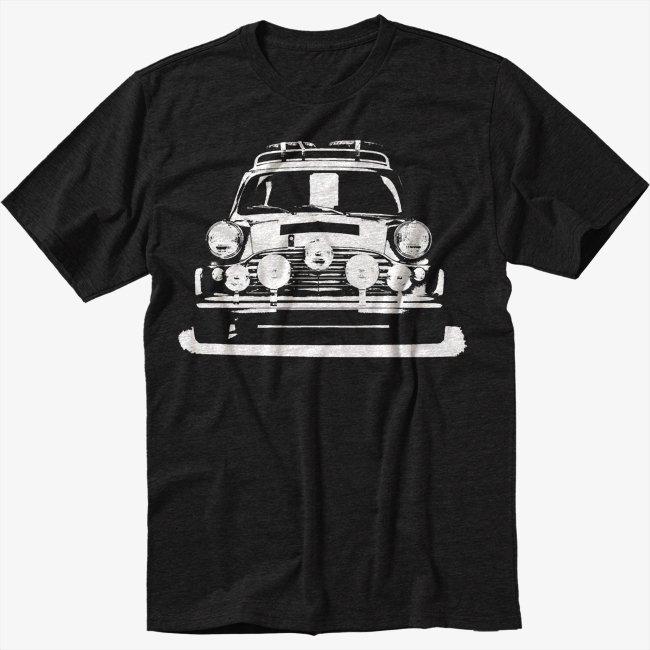 MINI Cooper rally old vintage personalised Men Black T Shirt