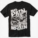 NO PAIN NO GAIN GYM Men Black T Shirt
