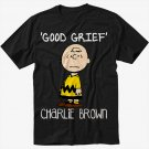 Peanuts Charlie Brown Men Black T Shirt