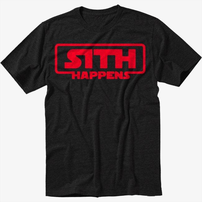 Star Wars Sith Happens Darth Vader Men Black T Shirt