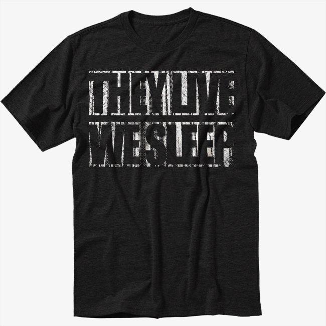 They Live we sleep, obey Men Black T Shirt