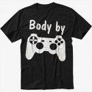 Body by Video Games Men Black Tshirt