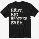 Boys Best Big Brother Ever Men Black Tshirt