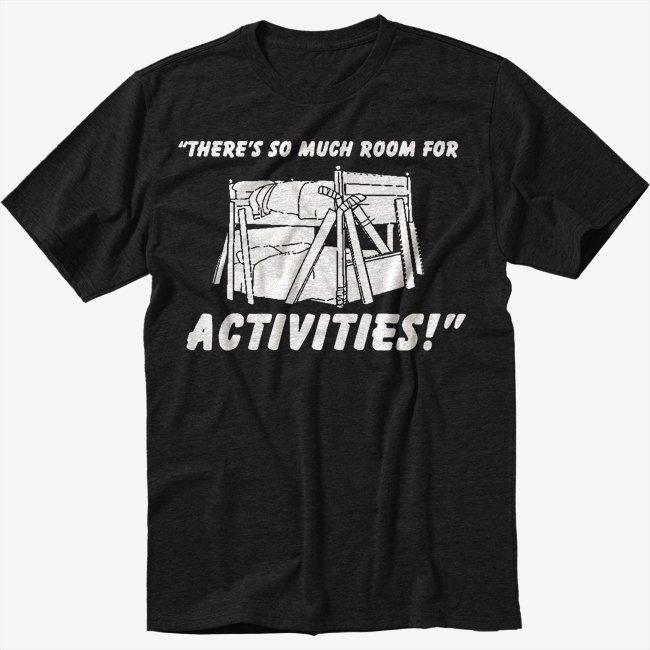 So Much Room For Activitie Men Black Tshirt