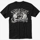This Boy Loves Christmas Men Black Tshirt