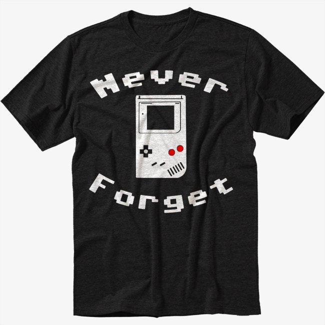 Never Forget Video Game Men Black T-Shirt