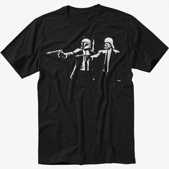 Darth Pulp Fiction Star Wars Black T-Shirt