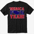 MERICA F$$K YEAH Black T-Shirt
