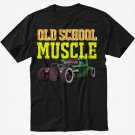 Old School Muscle Truck Rat Classic Car Black T-Shirt