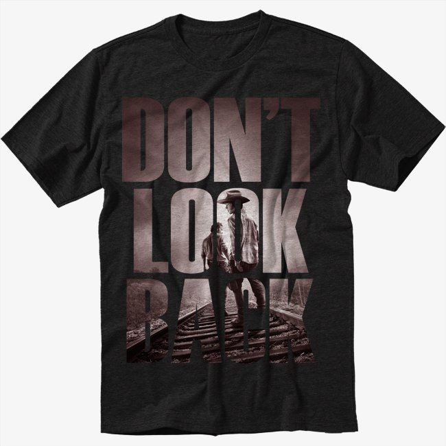 The Walking Dead Fan Don't Look Back Black T-Shirt