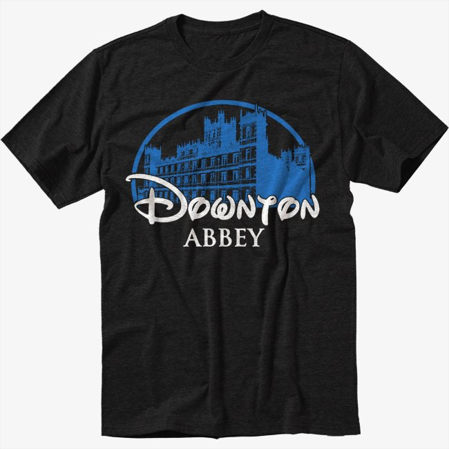 DOWNTON ABBEY Castle Bates Sherlock Men Black T-Shirt