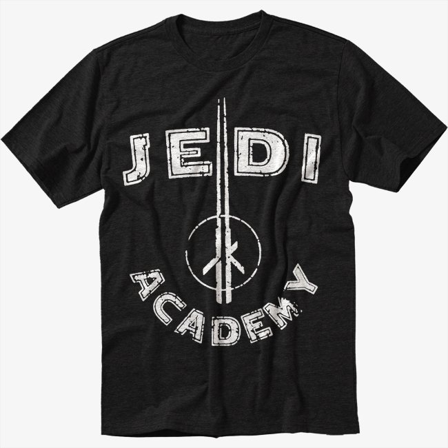Jedi Academy Star Wars Luke Skywalker Men Black T-Shirt