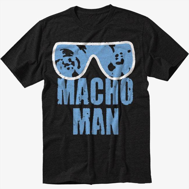 MACHO MAN SAVAGE RANDY FUNNY Men Black T-Shirt