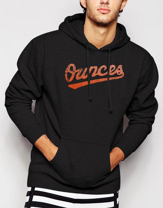 New Rare Baltimore Orioles OuncesTroy Ave Rap Hip Hop Men Black Hoodie Sweater