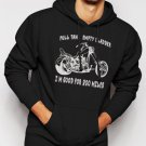 New Rare EMPTY BLADDER FUNNY MOTOCYCLE CHOPPER Men Black Hoodie Sweater
