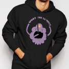 New Rare What The Lump Lumpy Space Princess Adventure Time Men Black Hoodie Sweater