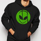 New Rare Alien Head UFO Aliens Geek Men Black Hoodie Sweater