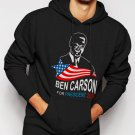 New Rare Ben Carson For President 2016 Men Black Hoodie Sweater
