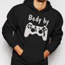 New Rare Body by Video Games Men Black Hoodie Sweater