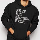 New Rare Boys Best Big Brother Ever Men Black Hoodie Sweater