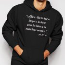 New Rare LIFE IS LIKE RIDING A BICYCLE Men Black Hoodie Sweater
