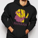 New Rare Minions Banana Men Black Hoodie Sweater