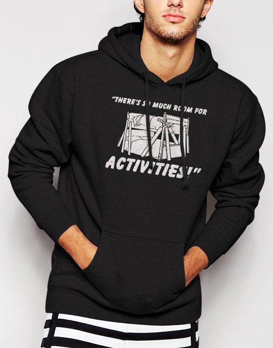 New Rare So Much Room For Activitie Men Black Hoodie Sweater