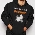 New Rare Trust Me I'm A Drummer Men Black Hoodie Sweater