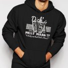 New Rare DICK'S MEAT MARKET Funny Humor Rude Not Eating Meat Men Black Hoodie Sweater