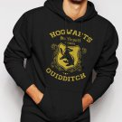New Rare Hufflepuff Quidditch Funny Harry Hog Potter Warts Seeker House Men Black Hoodie Sweater