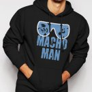 New Rare MACHO MAN SAVAGE RANDY FUNNY Men Black Hoodie Sweater