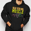 New Rare Old School Muscle Truck Rat Classic Car Men Black Hoodie Sweater