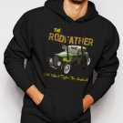 New Rare Old School Rodfather Hot Rat Rod Classic Car Men Black Hoodie Sweater