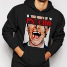 New Rare American Psycho Christian Bale Men Black Hoodie Sweater