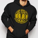 New Rare God's Gym Funny Christian Workout Men Black Hoodie Sweater