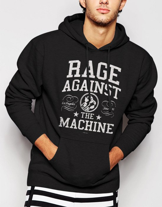 New Rare Rage Against the Machine RATM Rap metal Zack de la Rocha Men Black Hoodie Sweater