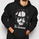 New Rare The Big Lebowski Face Walter Jesus Movie Men Black Hoodie Sweater