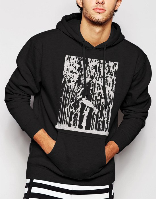 New Rare Umbrella Lady Raining Art Cool Funny Men Black Hoodie Sweater