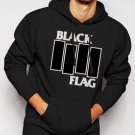New Rare Black Flag Men Black Hoodie Sweater