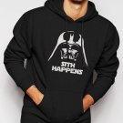 New Rare FUNNY STAR WARS SHIRT SITH HAPPENS VADER Men Black Hoodie Sweater