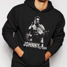 New Rare Johnny Cash Men Black Hoodie Sweater