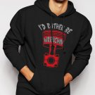 New Rare Rather Be Wrenchin Men Black Hoodie Sweater